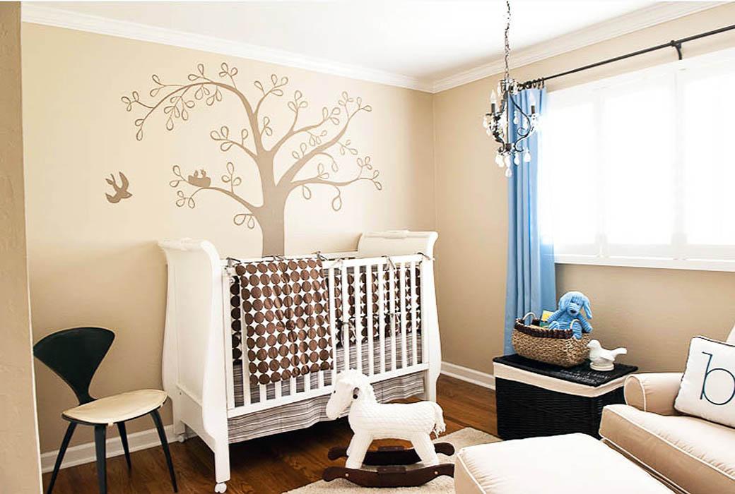 Babyzimmer gestalten tapeten