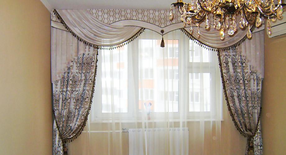 Шторы  для спальни гостиной